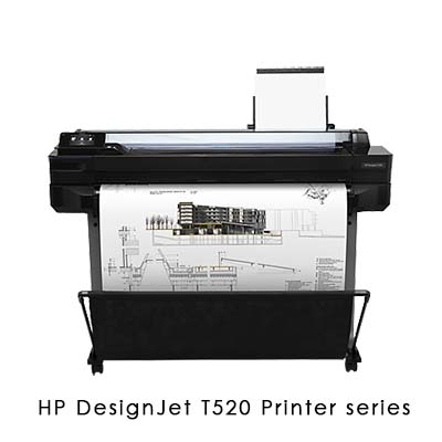 HP DesignJet T520 Printer series工程用大尺寸噴墨繪圖機